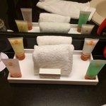 Shampoo,crema,acondicionador,gorra,etc.