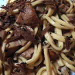 Umbricelli with mushrooms and truffles...mmmm!