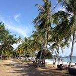 Strandabschnitt am Hotel