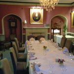 One of the private dining rooms that are available for use