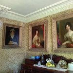 The wallpaper i believe is the original from approx 100 years ago. Amazing.