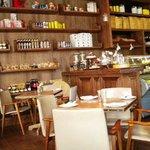 Interior of La Belle Cafe