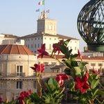 Vue depuis la terrasse - Palais du Quirinale