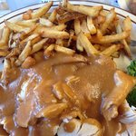 Hot turkey sandwich with French fries