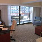 Suite with Balcony and Work Space Area