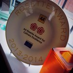 Our 2 AA Rosette plate arrives!!!
