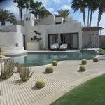 Room 102 pool patio area