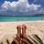 Descansando en las paradisiacas playas