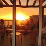Sunset on deck in Bldg 2