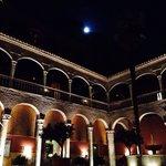 Noche de en la terraza del hotel, con luna llena!