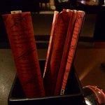 Chopsticks.  Or steak knives.