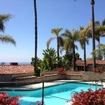 View from poolside