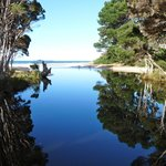 Walk to the mouth of Sisters Creek while staying at Eagles Rise Tasmania