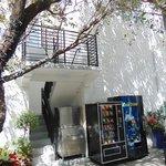 patio con refrigerios