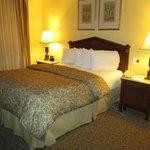 The Queen bed.