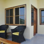 Golo Hilltop Hotel & Restaurant: a little porch which is great to sit out on and enjoy the view