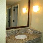 Bathroom sink area.