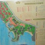 Carte du site.Lady Hamilton et Jamaica.