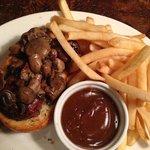 Steak Sandwich with mushrooms, D-Jay's & Ichabod's Food & Drk  |  3354 Portage Ave, Winnipeg, Ma