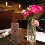 Lovely carnations on the tables, D-Jay's & Ichabod's Food & Drk  |  3354 Portage Ave, Winnipeg,