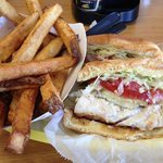 Grouper Sandwich and Fries....