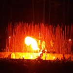 Fire Blow show at Safari Park