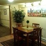 This is the lower level kitchen/dining area