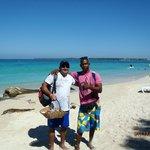 Con Nelson en Playa Blanca