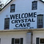 Welcome Crystal Cave, Discovered 1871
