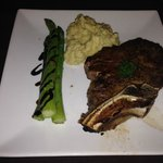 Ribeye Steak with delicious Asparagas and Garlic Mashed Potatoes