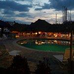 Pool at night,