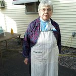 Dona. Owner of Jim's for over 35 years. Taken during our last day of school party 2013