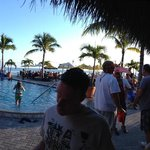 Panorama shot of the pool bar