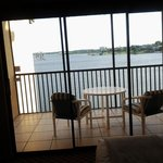 Beautiful, serene lakeview from 1BR suite patio