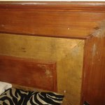 Seepage on Walls showing on Bed Bad Wooden Panel