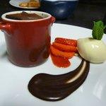 Fondant au chocolat et sa glace vanille maison