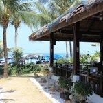 Salle à manger côté plage