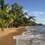 Spiaggia con alta marea