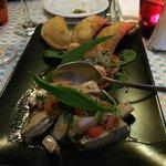 Tonfisk, grönsaker och tapas
