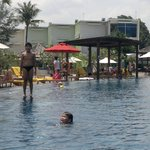 Centara's infinity pool beside the beach