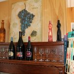 Wine historical artifacts and wine education materials.