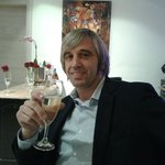 una copa de champany