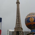 Eiffel tower on a cloud spring day in Vegas!