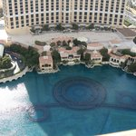 Bellagio from atop the Eiffel Tower!