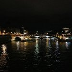 View of Pont Notre-Dame from Pont d'Arcole - Night