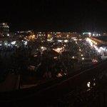 vue de la place jeema el fna de nuit