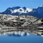 A small mirror lake near Upsala Glacier