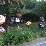 ねずみ塚広場その他に設置されているウキを使ったキャラクター人形