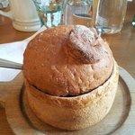 contenitore in pane della zuppa