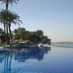 Another pool pic with infinity pool and Nile